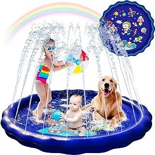Splash Pad Sprinkler for Kids Toddlers 68'' Kids Sprinklers for Outside Water Toys for Kids Backyard Outdoor Kiddie Pools ...