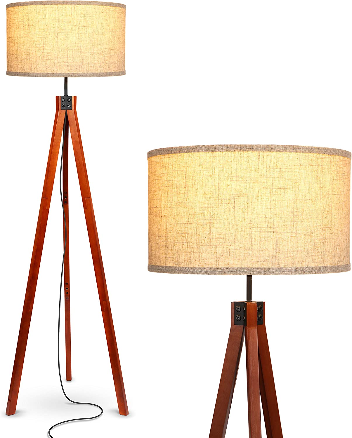 Spring new work one after another Brightech Eden Max 45% OFF Tripod LED Floor Century Lamp Dimmable Mid –