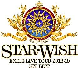 EXILE LIVE TOUR 2018-2019 ″STAR OF WISH″ Set List
