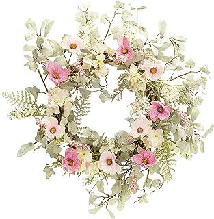 "The Bridge Collection Artificial 25"" Poppy and Hydrangea Wreath"