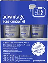 Clean & Clear Advantage Acne Control Kit with Benzoyl Peroxide, Includes Daily Face Wash, Fast Acting Treatment & Hydratin...