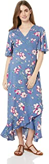 Maive & Bo Women's Harlow Maternity & Nursing Wrap Dress in Indigo Floral