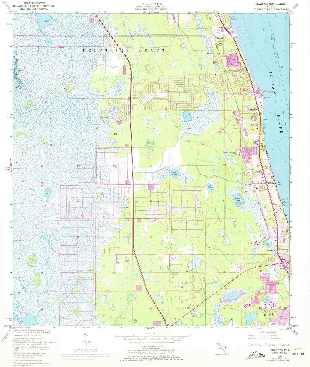 26.8 x 23 in Updated 1984 1:24000 Scale 1966 7.5 X 7.5 Minute Historical YellowMaps Eustis FL topo map