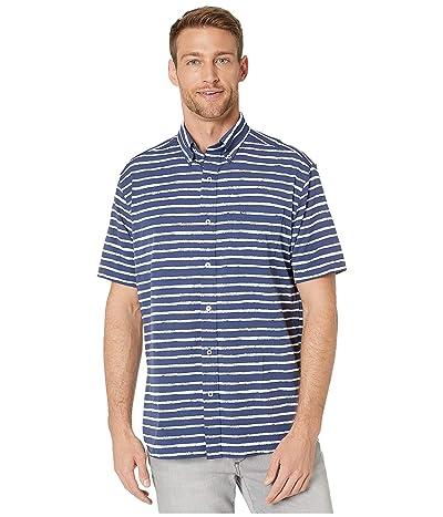 Southern Tide Pier Stripe Intercoastal Performance Sport Shirt (Seven Seas Blue) Men