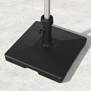 PURPLE LEAF 62.5 lbs Umbrella Base, Eco-Friendly PE Fabric Filled with Concrete