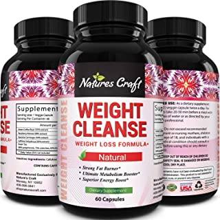 Natures Craft Natural Ketogenic Weight Loss Pills Appetite Suppressant Fat Burner for Men & Women Raspberry Ketones with G...