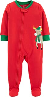Carter's Baby Boys' 1-Piece Christmas Reindeer Fleece Pajamas