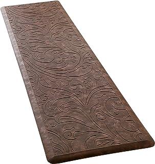 "KMAT Kitchen Mat Cushioned Anti-Fatigue Floor Mat Waterproof Non-Slip Standing Mat Ergonomic Comfort Floor Mat Rug for Home,Office,Sink,Laundry,Desk 17.3"" (W) x 60""(L),Brown"