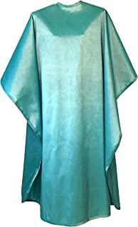JNxcel Premium Quality Water Repellent Nylon/Polyester Fabric Hair Salon & Barber Hair Cutting & Shampoo Cape with Snap Closure (Turquoise)