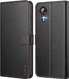 Ganbary Coque Samsung Galaxy Xcover 5, [Housse en Cuir PU Premium] [Pochette de Portefeuille] [Etui à Rabat], avec Fentes ...