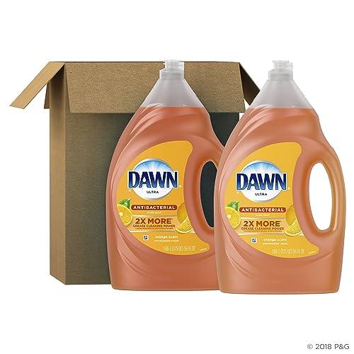 Dawn Antibacterial Dishwashing Liquid Dish Soap, Orange Scent, 56 Fl Oz,Pack of