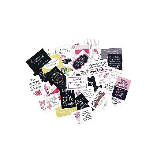 Sprinkled Joy Designer Lunchbox Floral Motivational Notes - 50 Inspirational Cards