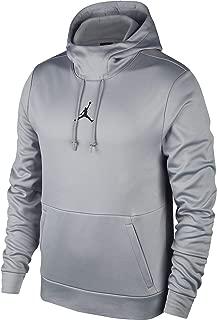 Jordan Men's Therma 23 Alpha Training Pullover Hoodie- 861559-091 - Carbon Heather/Black