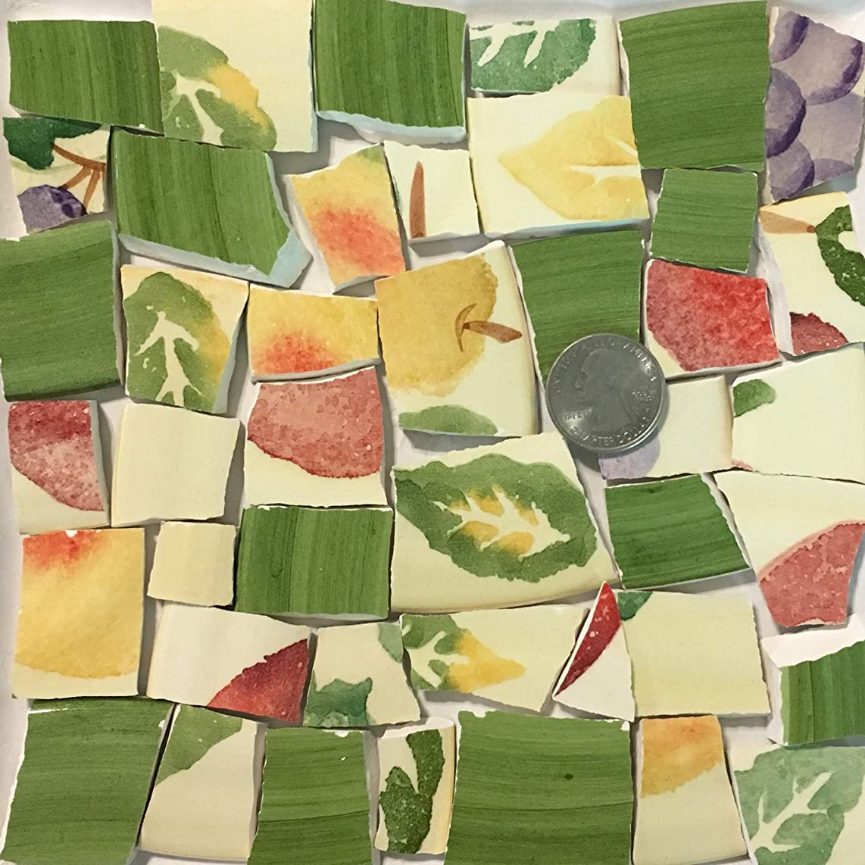 Mosaic Art & Crafts Supply ~ Yellow Green Orange Fruit Tiles (B907)