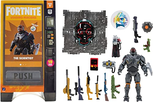 popular Fortnite Vending Machine, Includes Highly-Detailed and Articulated 4-inch The Scientist Figure, Weapons, new arrival Back Bling, Building Materials. discount More Outfits Dropping Soon outlet sale
