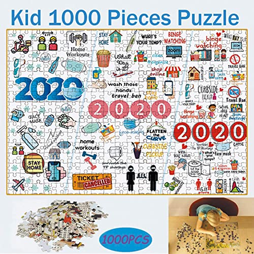 OPTIMISTIC Puzzles for Adults1000 Piece 2020 Jigsaws Puzzle for Adult and Children, Paper Puzzles with Friend Or Family DIY for Kids, 2MM Paperboard