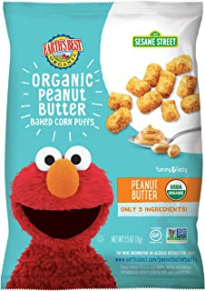 Earth's Best Organic Peanut Butter Baked Corn Puffs, 2.5 oz. (Pack of 6)