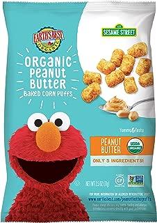 Earth's Best Organic Peanut Butter Baked Corn Puffs, 2.5 oz. (Pack of 6)