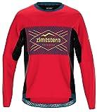 Zimtstern Herren TechZonez Shirt LS MTB, Cyber Red/French Navy/Mimosa, XXL