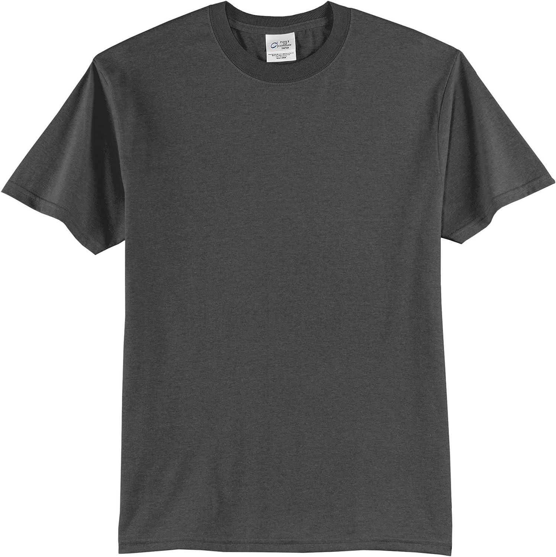 Port & Company Tall 50/50 Cotton/Poly T-Shirts>3XLT Charcoal PC55T