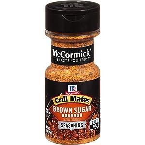 McCormick Grill Mates Brown Sugar Bourbon Seasoning, 3 oz