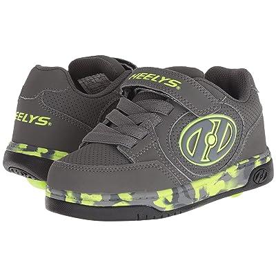 Heelys Plus X2 Lighted (Little Kid/Big Kid) (Charcoal/Bright Yellow/Confetti) Boys Shoes