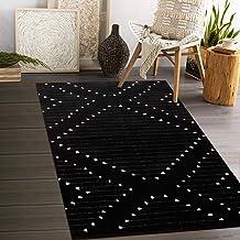 Black And White Geometric Rug