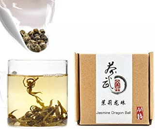 Cha wu-dragonボールジャスミンPearls Tea、フラワーアロマグリーンティー、原点の福建省、中国 0.22lb/100g