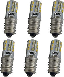 6 bombillas E14 de color blanco cálido para tu nevera, máquina de coser, lámpara de noche u otras lámparas pequeñas (1,5 W – blanco cálido 3000 K).