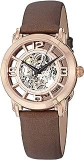 Stuhrling Original Women's 156.124T14 Lady Winchester Automatic Skeleton Satin Strap Brown Watch