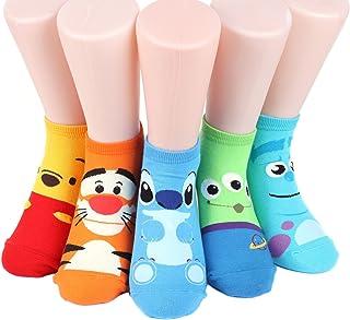 Disney Rascal Sneakers Women's Socks 5 pairs Made in Korea