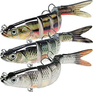 TRUSCEND Fishing Lures for Bass Trout 4.7~7