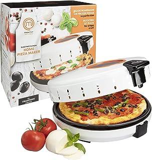 MasterChef Pizza Maker- Electric Rotating 12 Inch Non-stick Calzone Cooker - Countertop Pizza Pie and Quesadilla Oven w Ad...