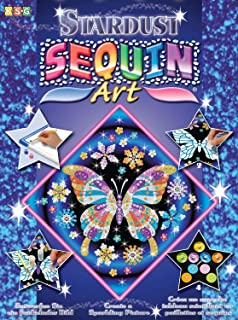 Sequin Art Stardust, Butterfly, Sparkling Arts and Crafts w/ Glitter, Creative Crafts