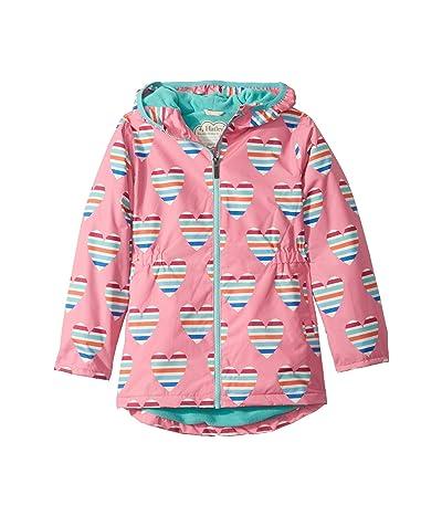 Hatley Kids Multicolour Hearts Microfiber Rain Jacket (Toddler/Little Kids/Big Kids) (Pink) Girl