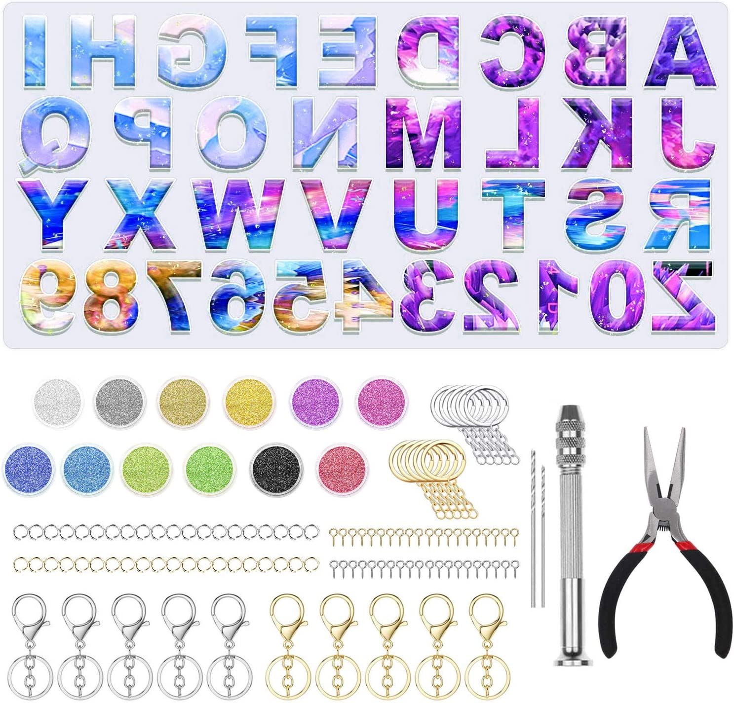 Max 55% OFF Newthinking Alphabet Resin Silicone Molds DIY PCS 106 Now on sale Cas