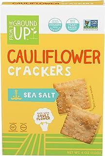 From The Ground Up, Cauliflower Crackers Sea Salt, 4 Ounce