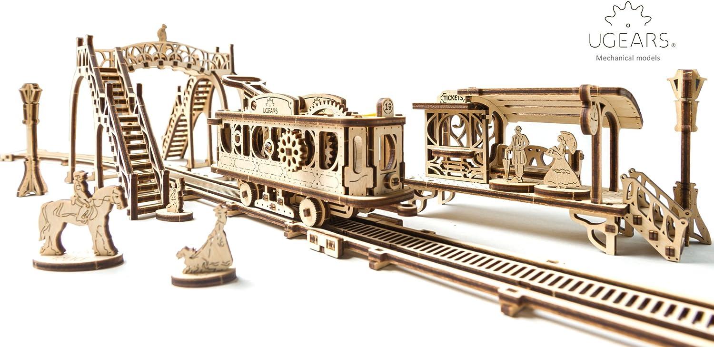 UGears Mechanical Town Series Model Tram Line Cheap bargain Wooden 5 ☆ very popular