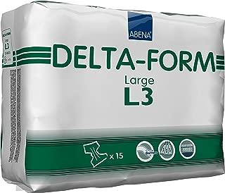 Abena Delta Form Adult Incontinence Brief, L3, 15 Count