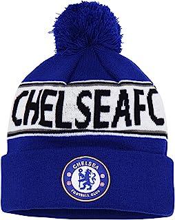 1cb3fb82f9d Official Soccer Football Merchandise Adult Chelsea FC Text Winter Beanie Hat