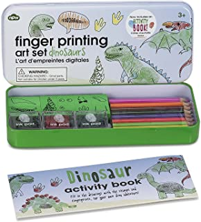 finger painting dinosaurs