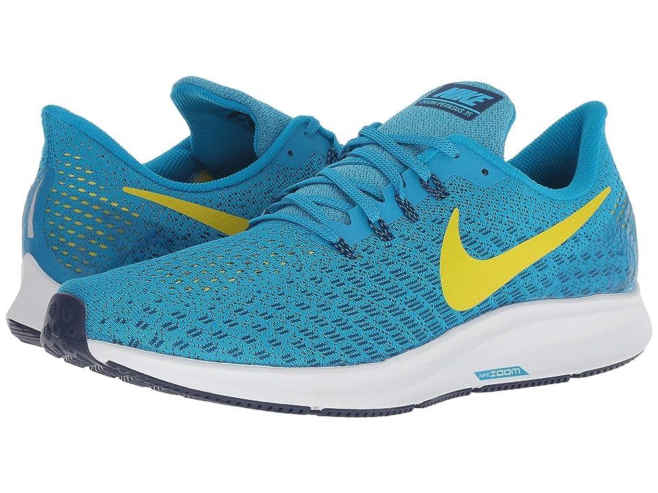 Nike Air Zoom Pegasus 35 (Blue Orbit/Bright Citron/Blue Void) Men