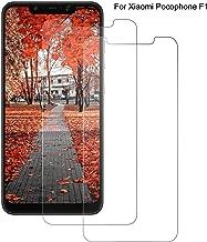 DOSNTO Pellicola Protettiva per Xiaomi Pocophone F1, 2Pezzi, Vetro Temperato, HD Alta Trasparenza, Pellicola Protettiva in Vetro Screen Protector Pocophone F1