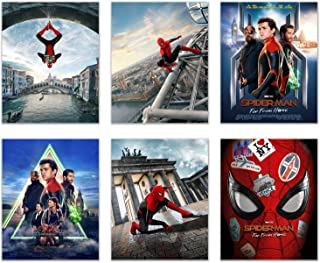 Spiderman Far from Home Poster Prints - Set of Six (8x10) Photos