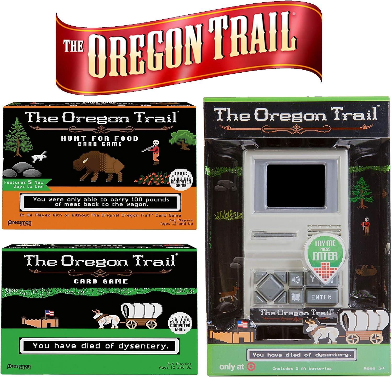 The Oregon Trail Original Board, Hunt for Food Games, Handheld Game  Ultimate Holiday Fan Gift
