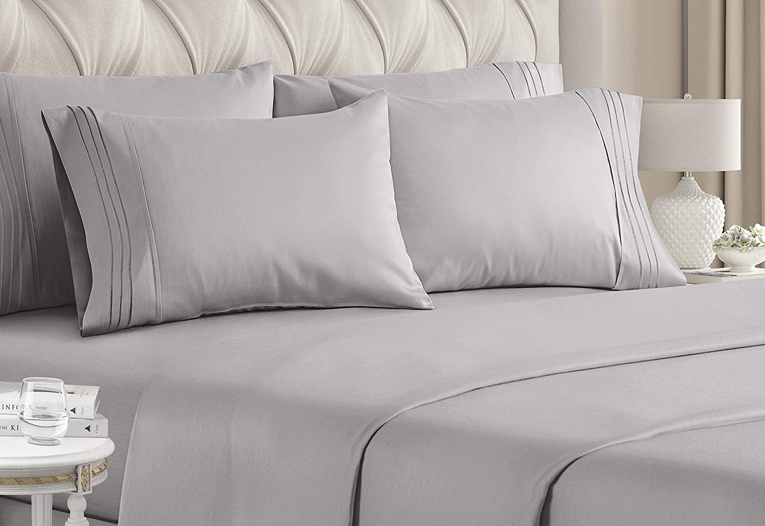 Queen Size San Francisco Mall Sheet Set Import - 6 Sheets E Bed Luxury Piece Hotel