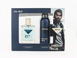 Privata Organic Blue Man Eau de Toilette Natural Spray 75ml + Deodorant Spray 200ml