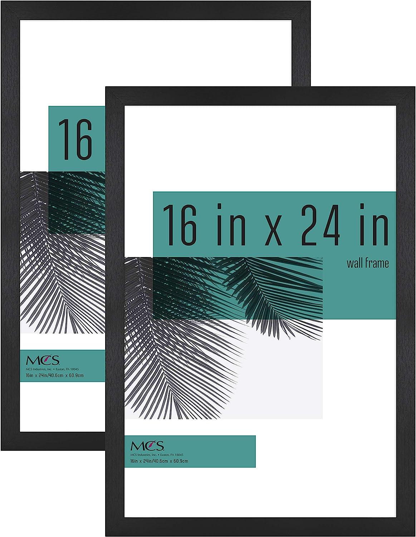 MCS Industries Studio Gallery Frames, 16x24 in, Black Woodgrain, 2 Count