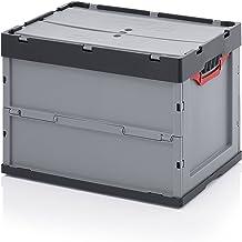 Caja plegable Auer 60 x 40 x 42 con tapa y bolsa interior rafia cremallera