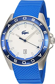 Lacoste Men's Quartz Watch, Analog Display and Silicone Strap 2010905, Blue Band